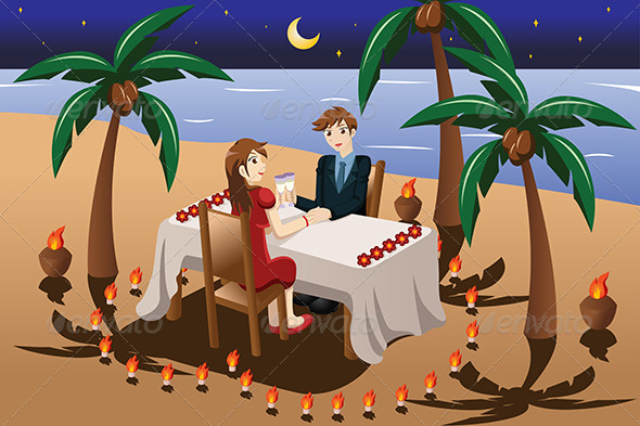GraphicRiver Couple having Romantic Dinner 7070139