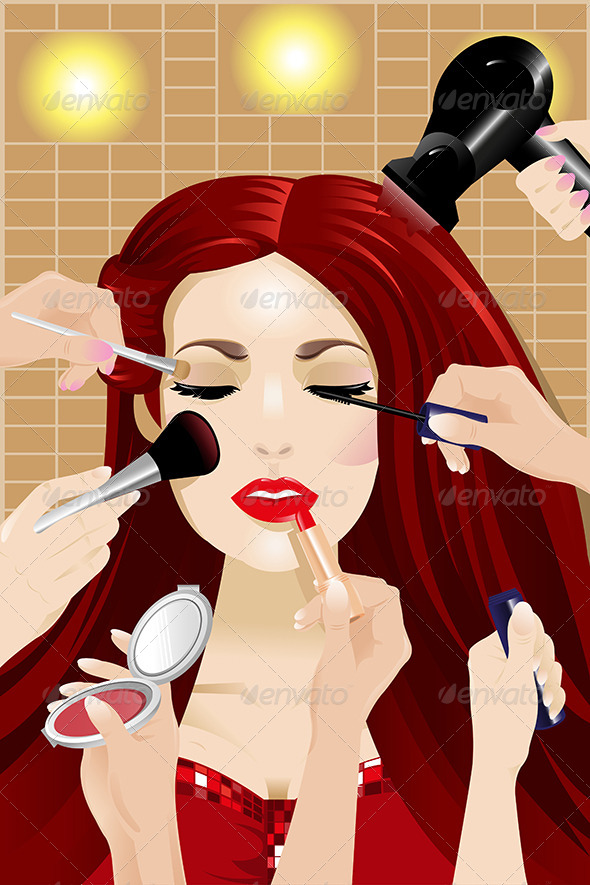 GraphicRiver Hands Applying Make Up 7070236