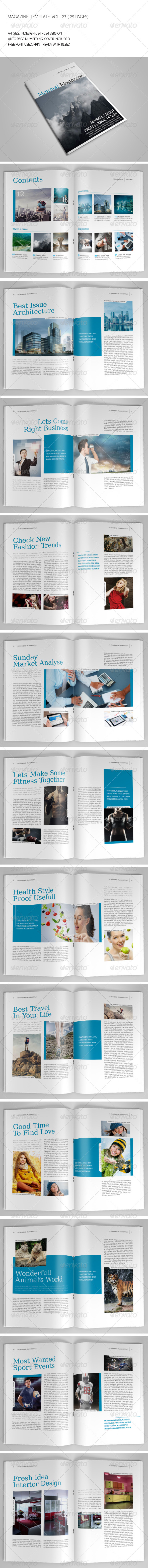 GraphicRiver 25 Pages Minimal Magazine Vol23 7070237