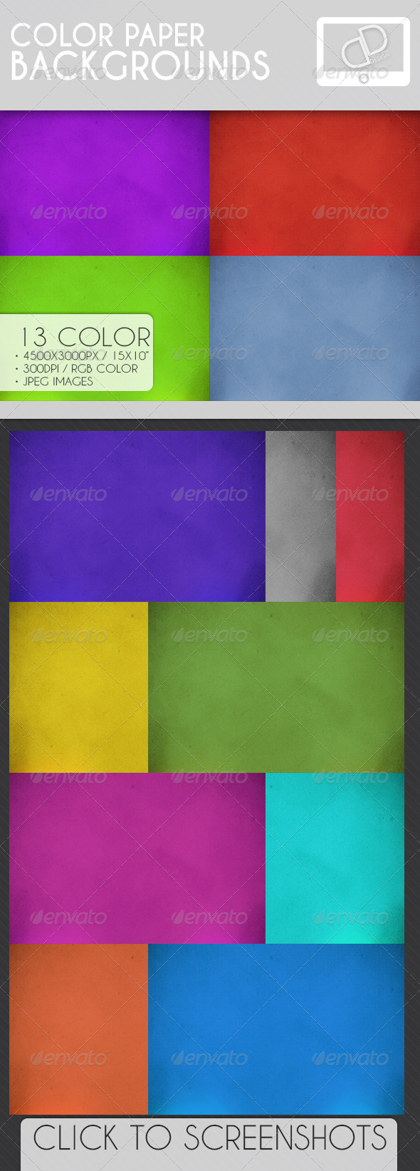 GraphicRiver Color Paper Backgrounds 7070249