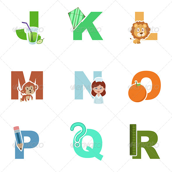 GraphicRiver Alphabet Illustration 7070444