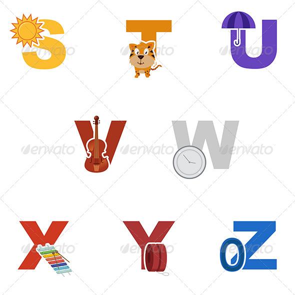 GraphicRiver Alphabet Illustration 7070453