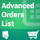 Advanced Orders List