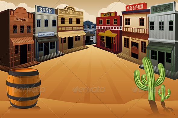 GraphicRiver Old Western Town 7071017
