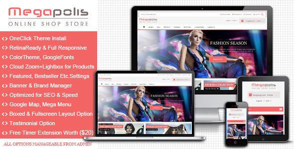 Megapolis - Premium Responsive Magento Theme - Magento eCommerce