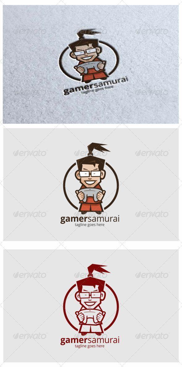 Gamer Samurai Mascot logo