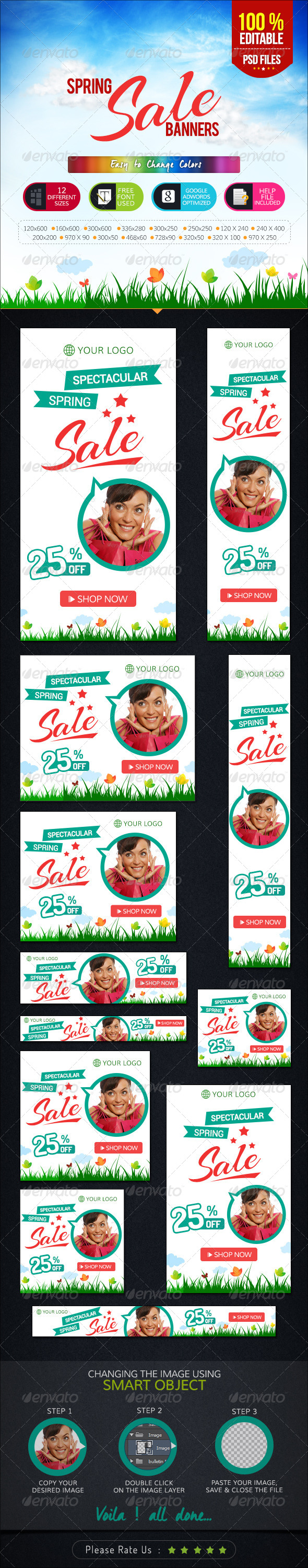 GraphicRiver Spring Sale Banners 7071743