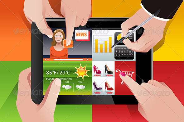 GraphicRiver People Using Tablet PC 7073111