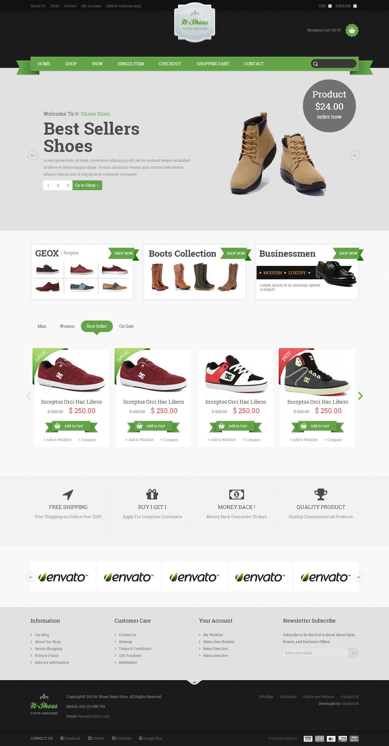N-Shoes – Premium Responsive HTML5 Store Template