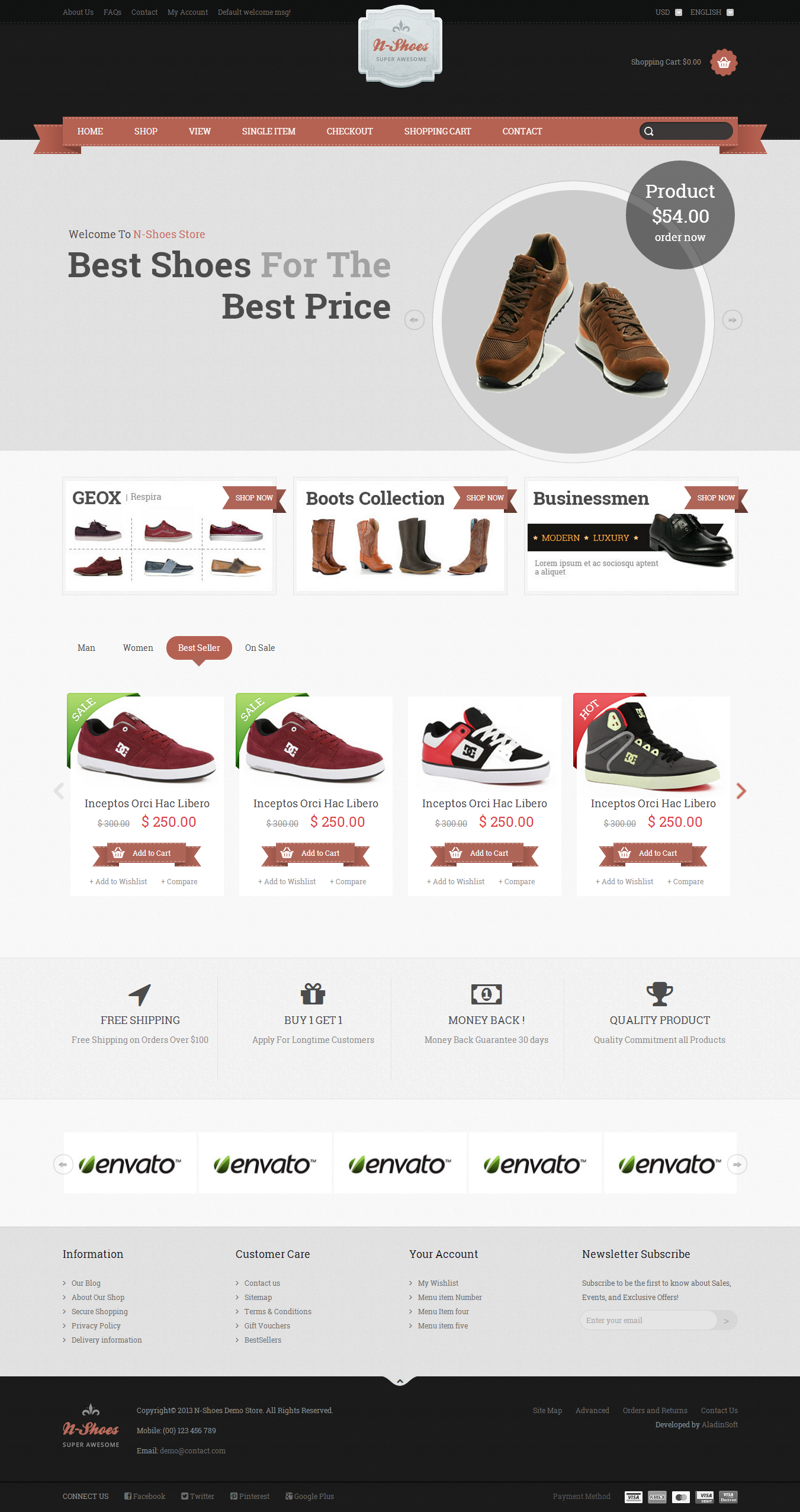 N-Shoes – Premium Responsive HTML5 Store Template