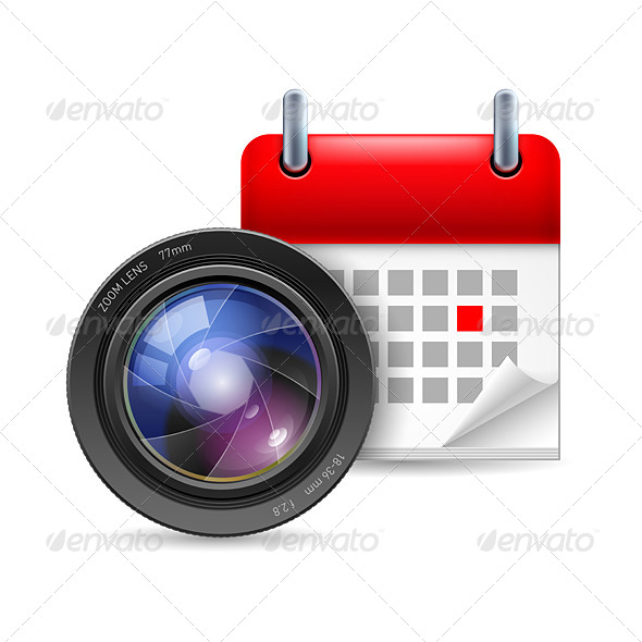GraphicRiver Camera Lens and Calendar 7073762