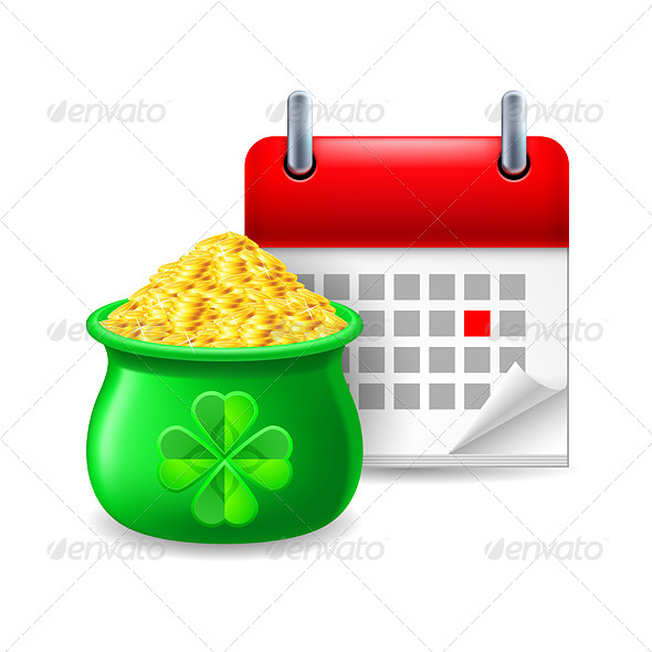 GraphicRiver Pot of Gold and Calendar 7073811