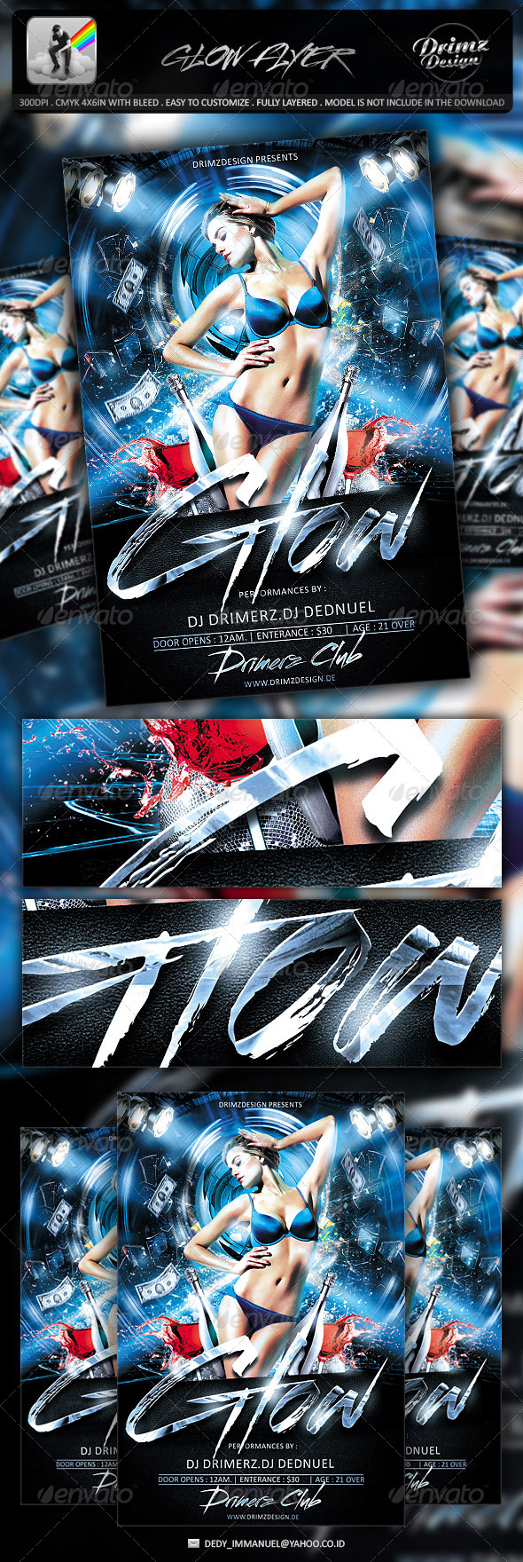 GraphicRiver Glow Flyer 7073888