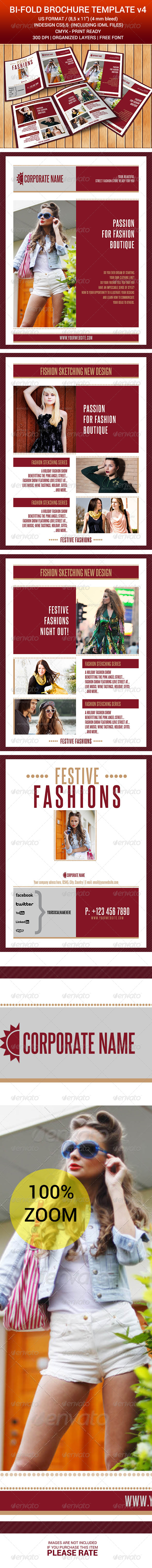 Bi-Fold Brochure Indesign Template v4