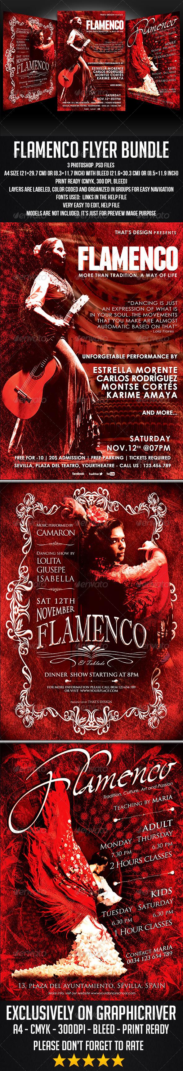 GraphicRiver Flamenco Flyer Bundle 7074094