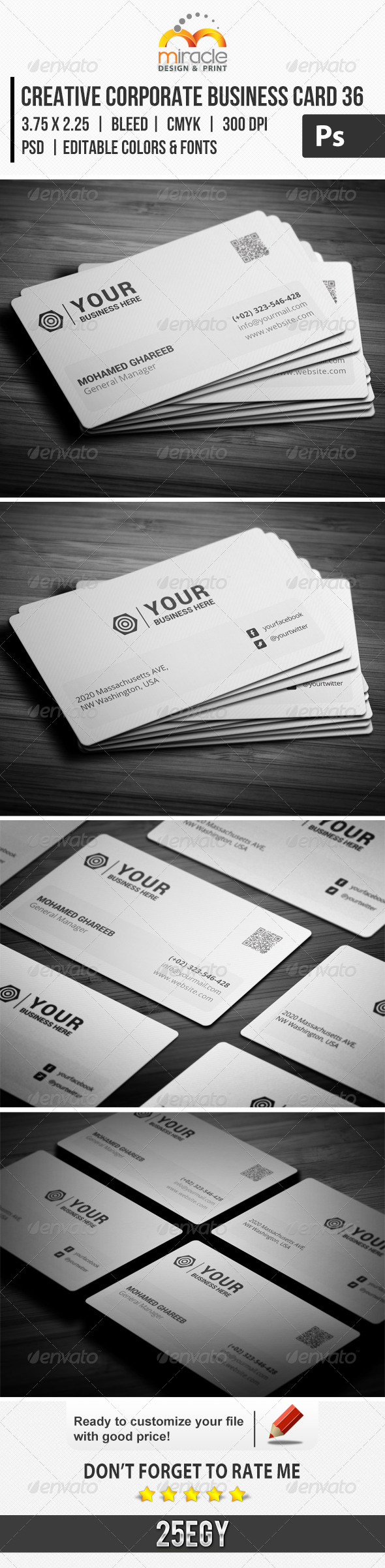 GraphicRiver Creative Corporate Business Card 36 7074837