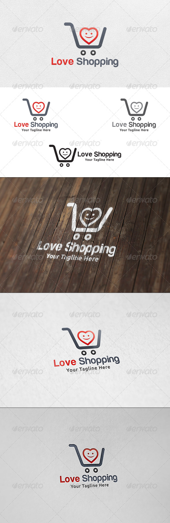 GraphicRiver Love Shopping Logo Template 7075520