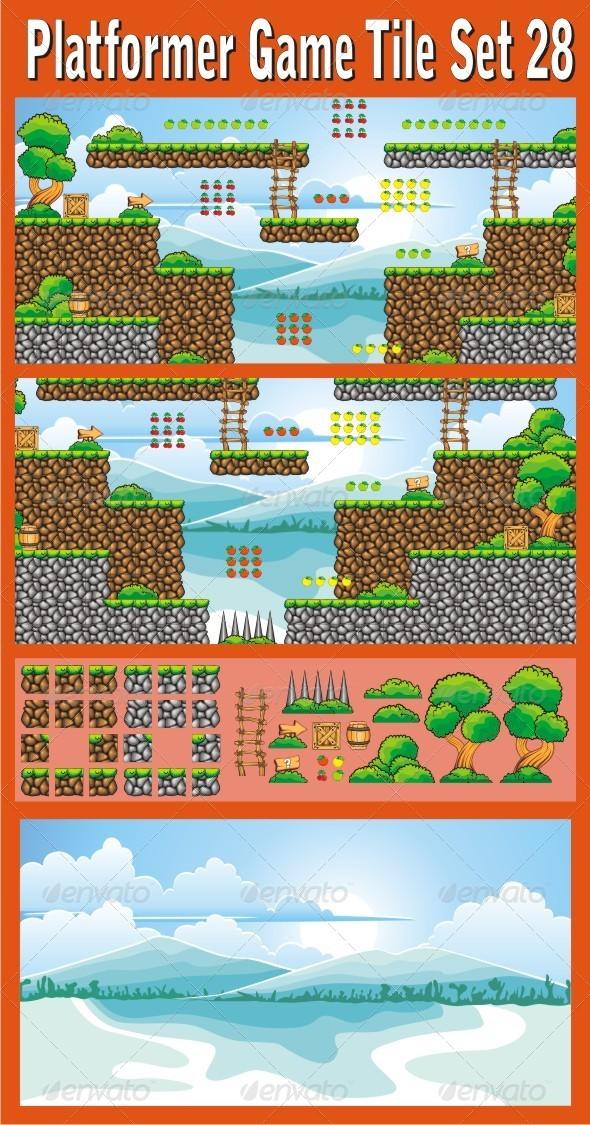 GraphicRiver Platformer Game Tile Set 28 7075942
