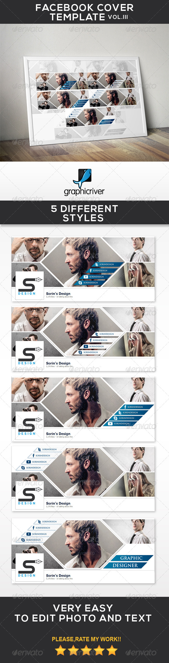 GraphicRiver Facebook Cover Template Vol.III 7076369