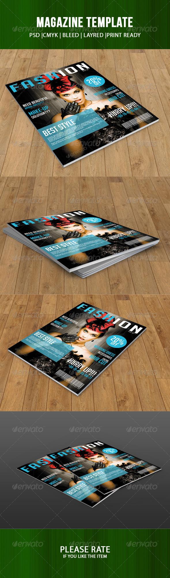 GraphicRiver Fashion Magazine Cover Template 7077564