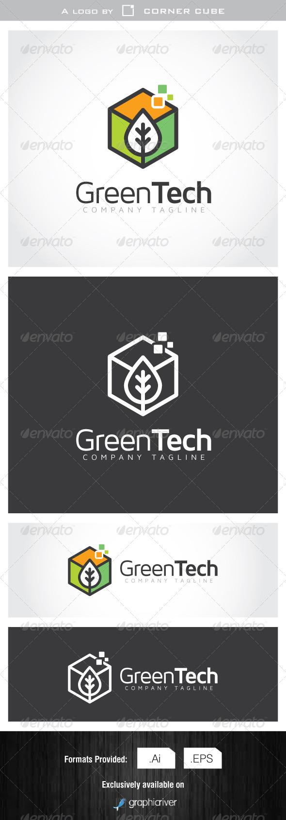 GraphicRiver Green Tech Logo 7077826