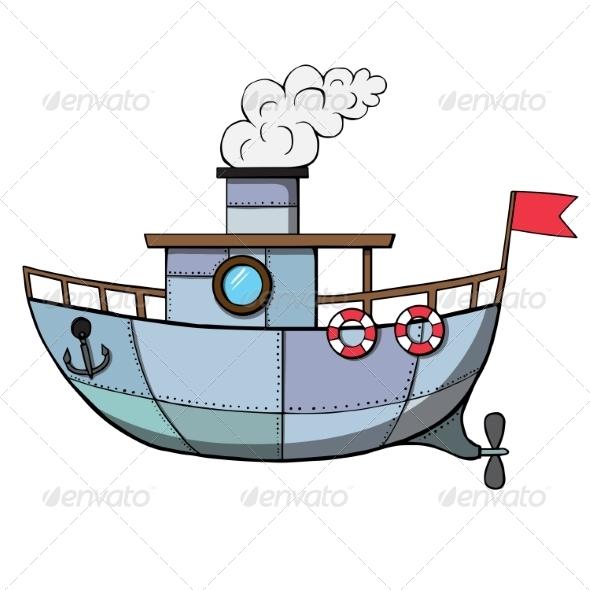 GraphicRiver Cartoon Ship 7078009
