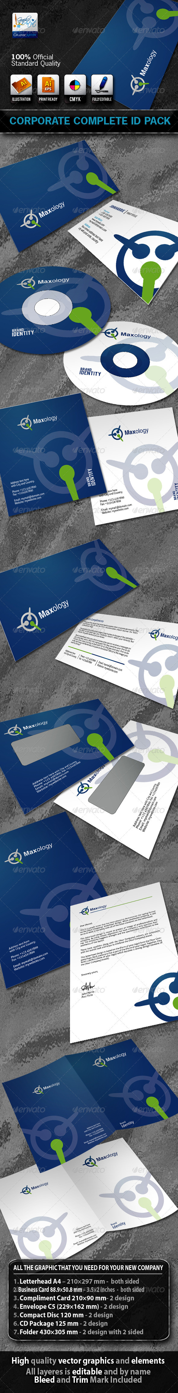 Graphic River Maxology Business Corporate ID Pack With Logo Print Templates -  Stationery 742734