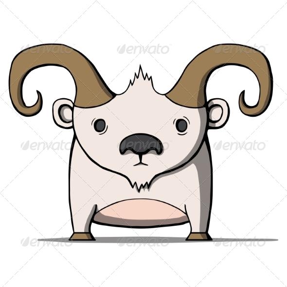 GraphicRiver Cartoon Goat 7078163