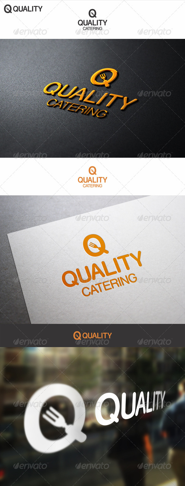 GraphicRiver Quality Food Catering Logo 7078435