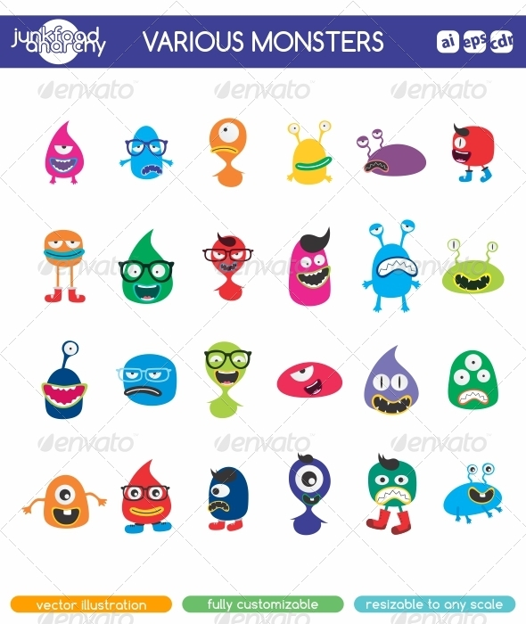 GraphicRiver Various Monsters 7078857