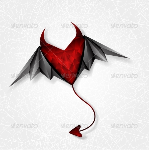 GraphicRiver Heart Demon with Wings 7078863