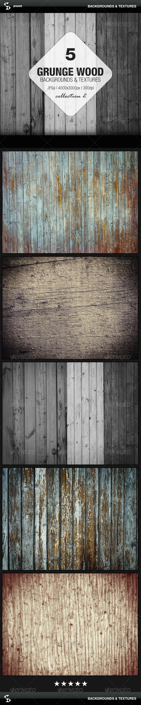 GraphicRiver Grunge Wood Backgrounds Collection 2 7078959