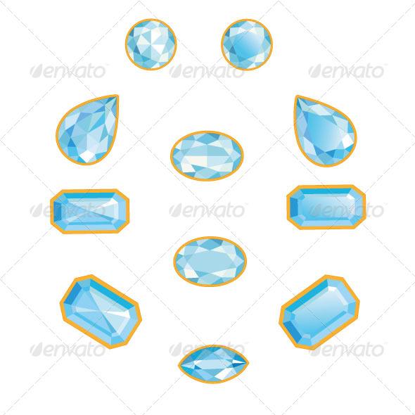 GraphicRiver Blue Diamond Set 7079361