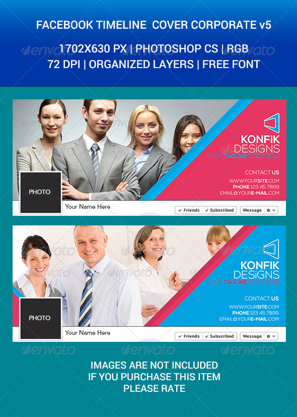 GraphicRiver Facebook Timeline Cover Corporate v5 7079369