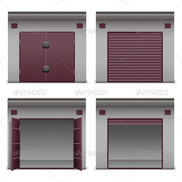 GraphicRiver Vector Garage Icons 7079426