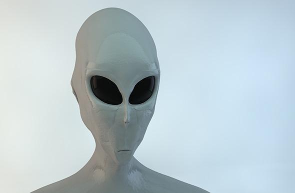 Alien Gray - 3DOcean Item for Sale