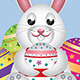 White Bunny with Easter Eggs   - GraphicRiver Item for Sale