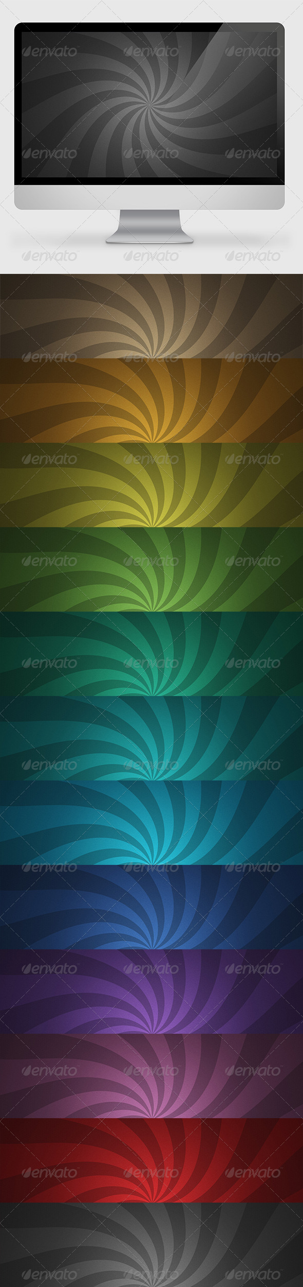 GraphicRiver Rays Backgrounds Wallpapers 7080385