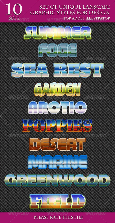 GraphicRiver Set of Unique Ladscape Graphic Styles for Design 2 7080760