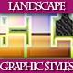 Set of Unique Ladscape Graphic Styles for Design 2 - GraphicRiver Item for Sale