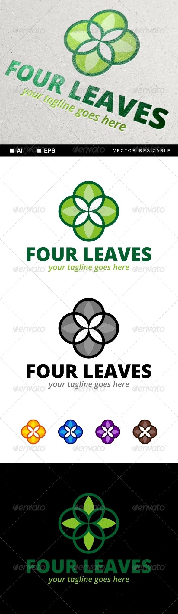GraphicRiver Four Leaves Logo 7081765