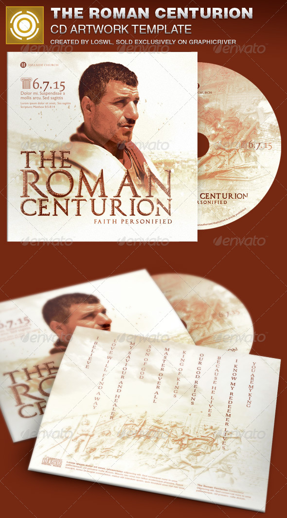 GraphicRiver Roman Centurion CD Artwork Template 7081789