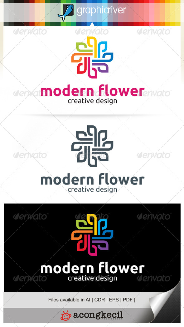 GraphicRiver Modern Flower V.1 7081787