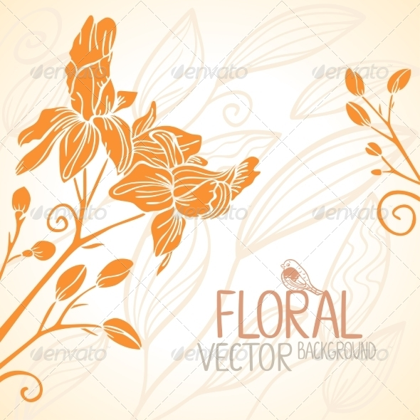 GraphicRiver Flowers Orange 7081816