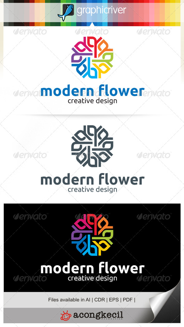 GraphicRiver Modern Flower V.3 7081821