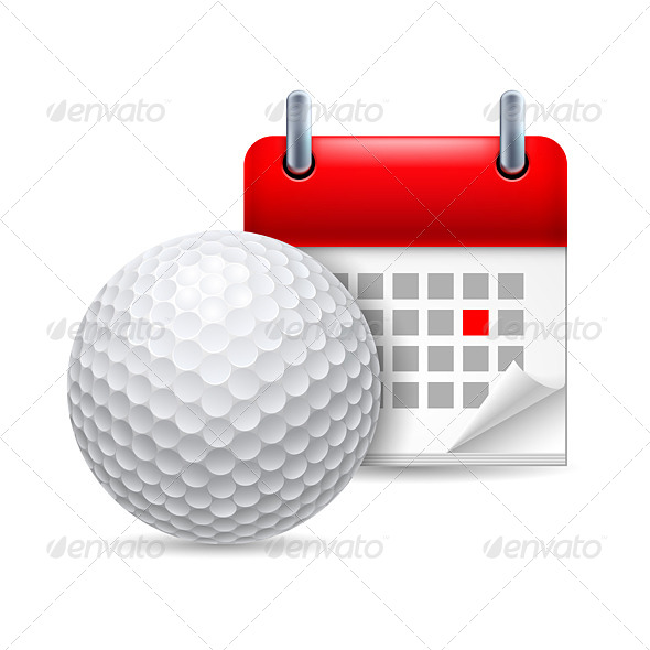 GraphicRiver Golf Ball and Calendar 7081886
