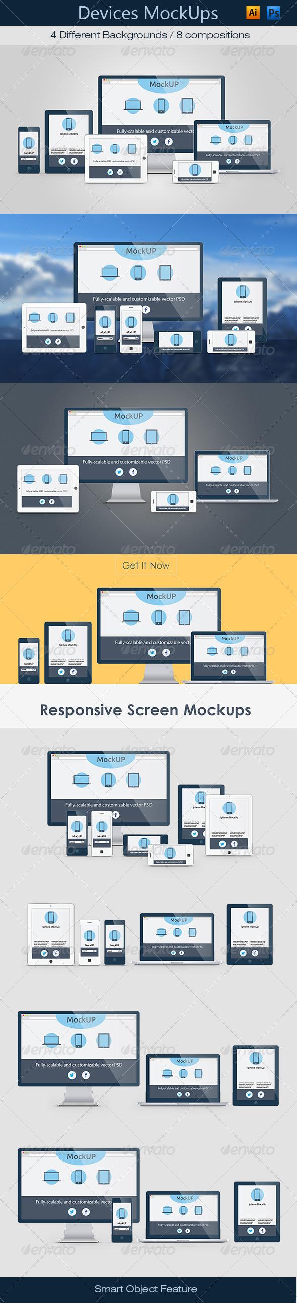 GraphicRiver Device Mockups Responsive 7081893