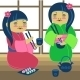 Illustration of Two Japanese Girls - GraphicRiver Item for Sale