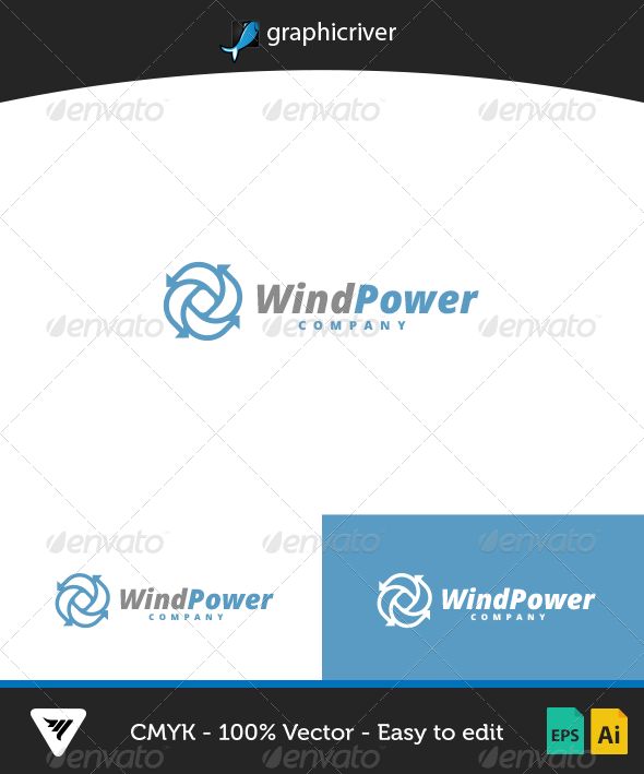 GraphicRiver WindPower Logo 7082243