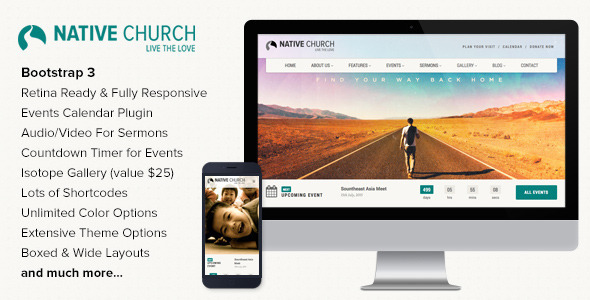 ThemeForest NativeChurch Multi Purpose Wordpress Theme 7082446